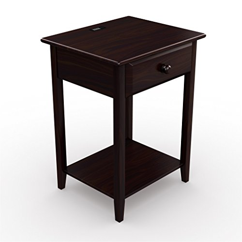 Keep Technology at Your Sleepy Fingertips With This Solid Wood Night Stand Featuring 4 USB Ports