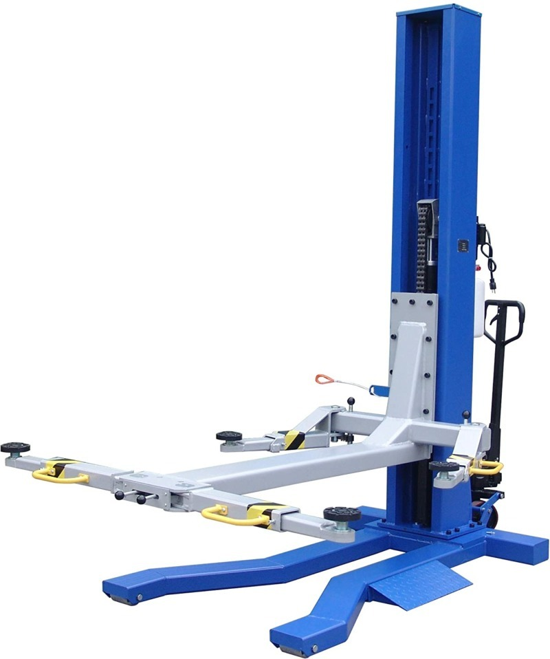 Ideal 6000 Lb Capacity Mobile Single Column Lift